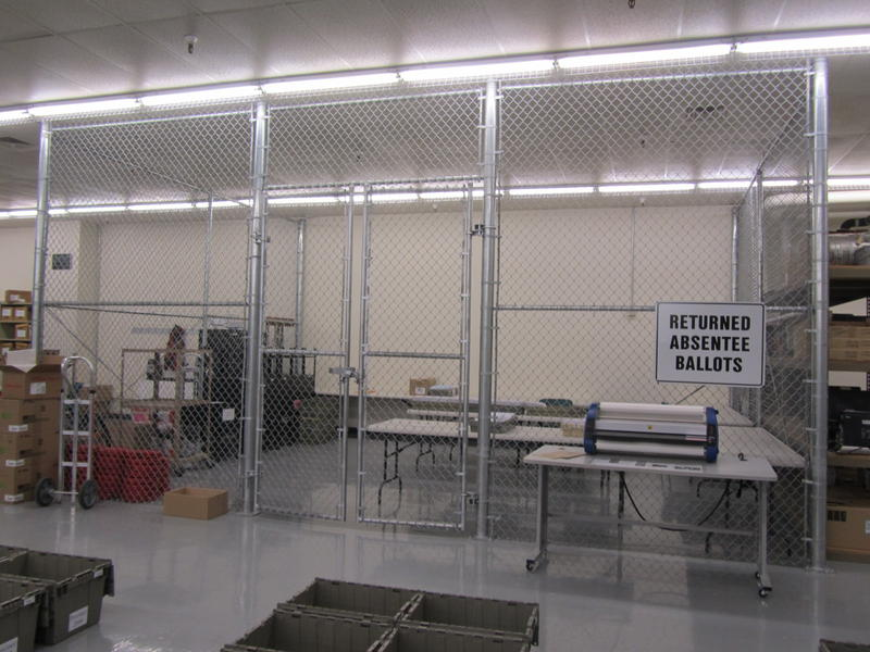 Ballot Cage at Ada County Election Headquarters