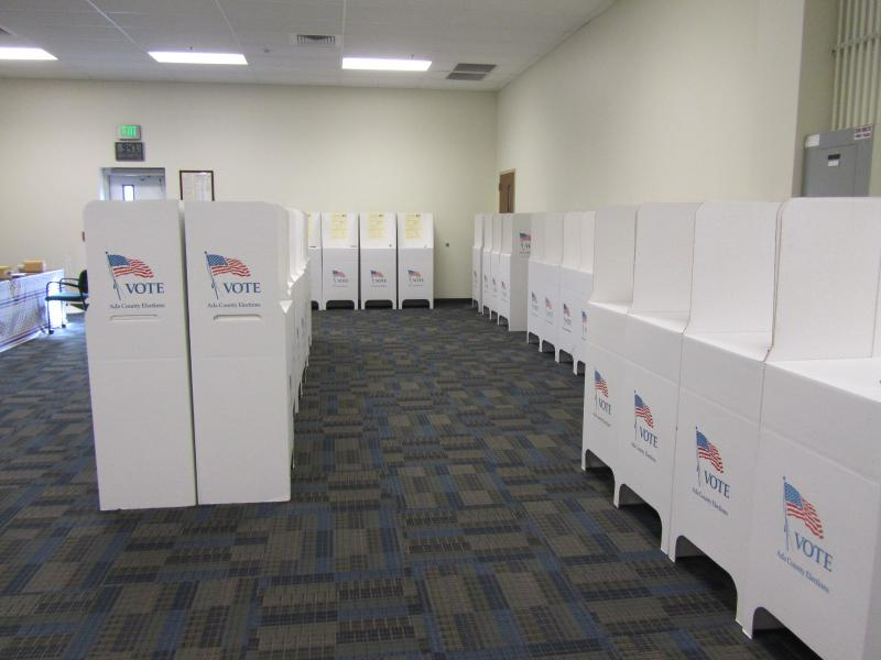 Early voting booths in Ada County