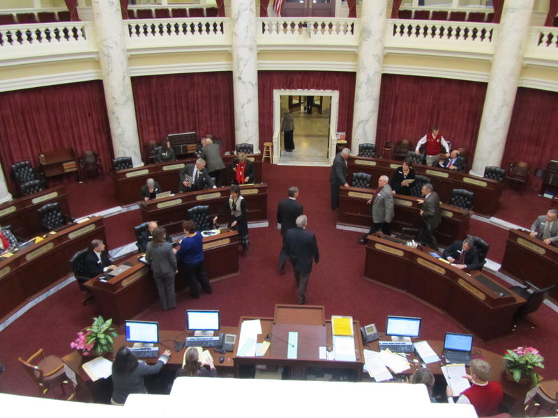 File photo of the Idaho Senate chambers.