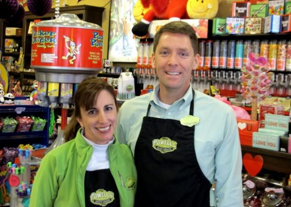 Debbie and Joe Giordano, of Powell's Sweet Shoppe in Boise