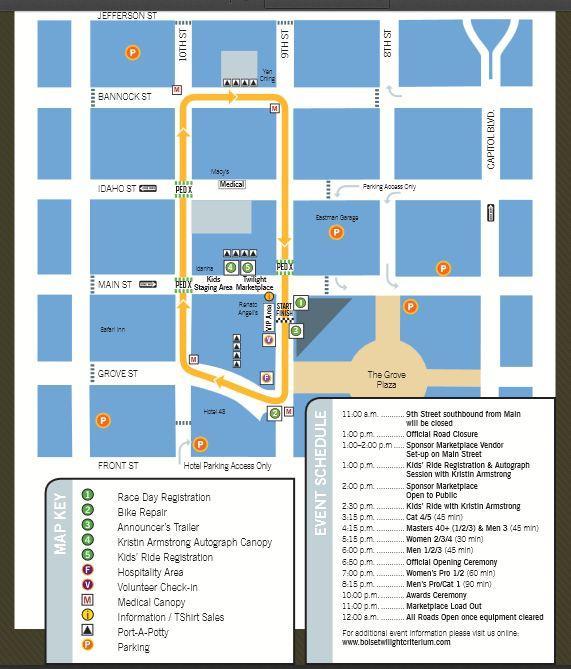 Twilight Criterium Map