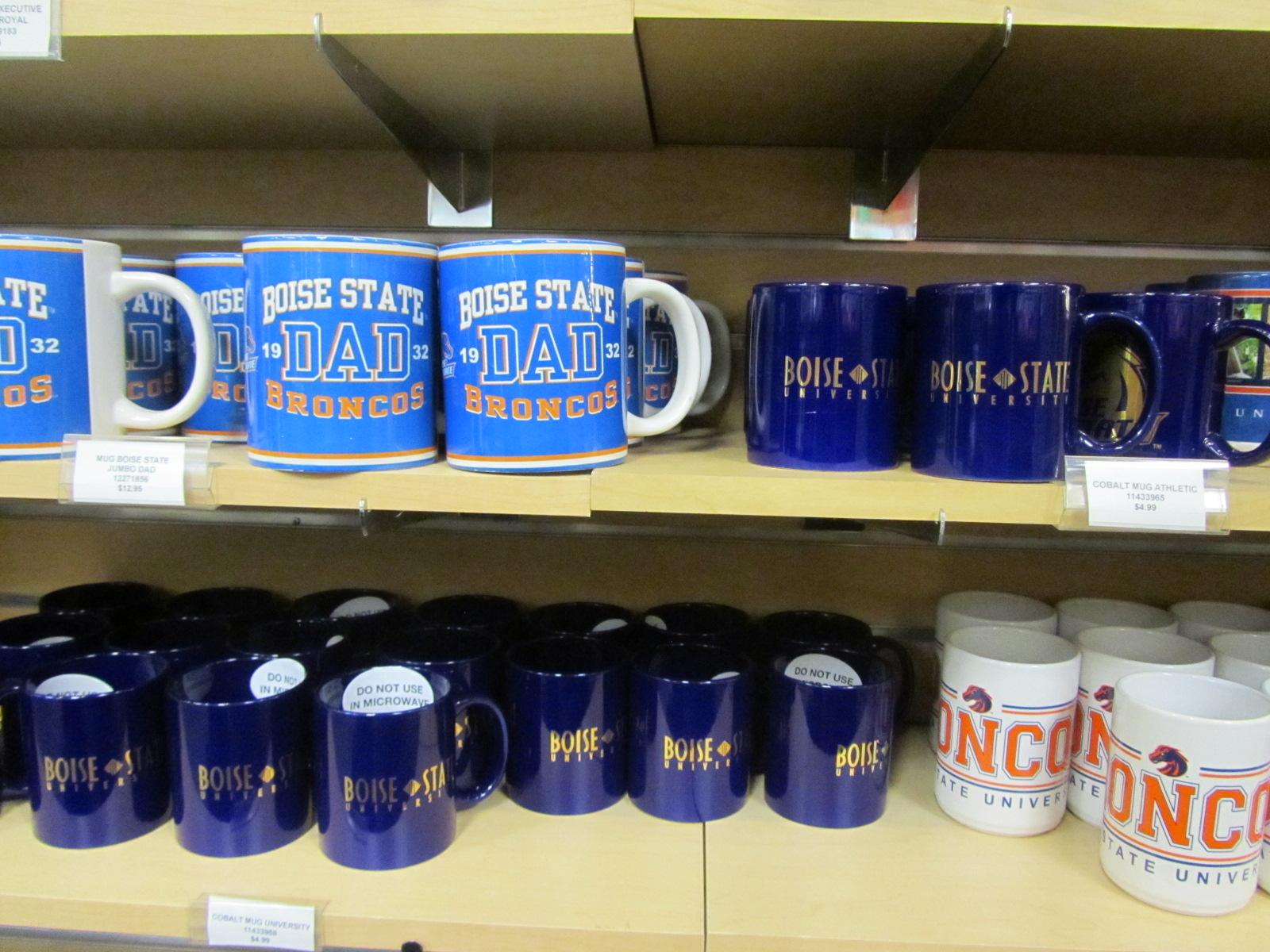 VIEW SLIDESHOW 9 of 10. Boise State merchandise is dominated