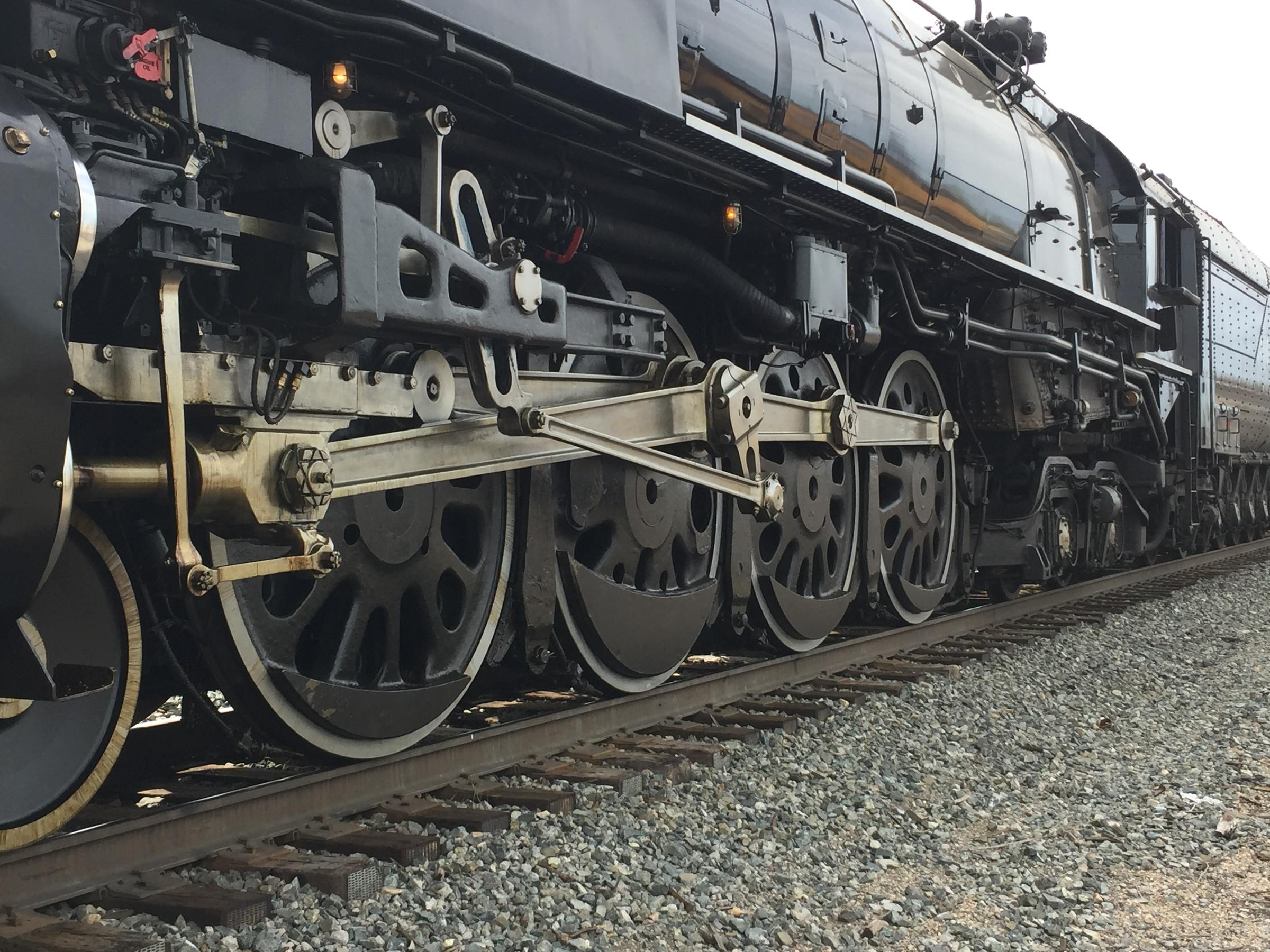 "Union Pacific's so-called ""Living Legend"" engine is a magnet for rail fans."