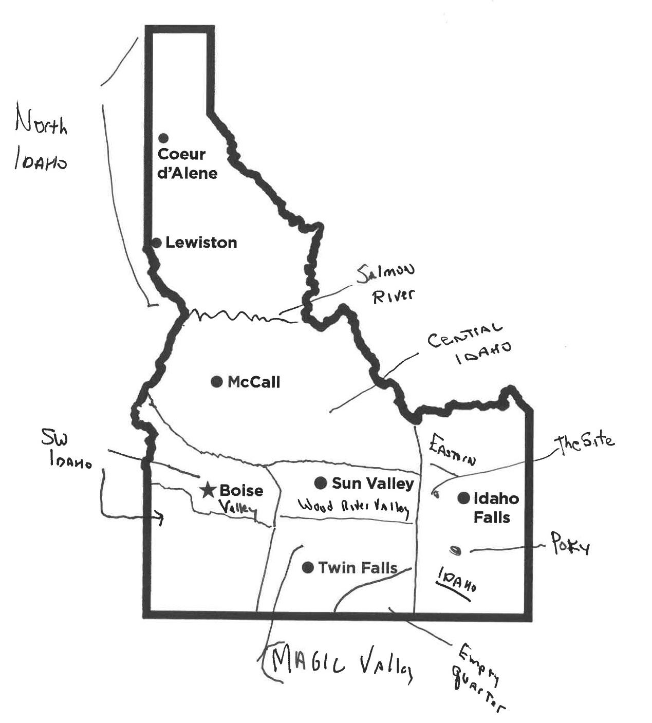 Here We Have Idaho How Would You Draw A Map Of Our State Boise