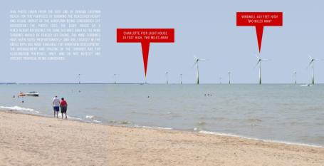 an artist's rendering provided by an anti-offshore wind group