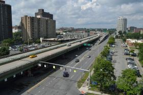Interstate 81 in downtown Syracuse.