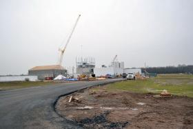 An $80 million milk processing plant is under construction in Auburn.