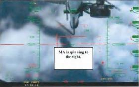 """I can't recover it,"" the pilot said as the MQ-9 went into a flat spin."