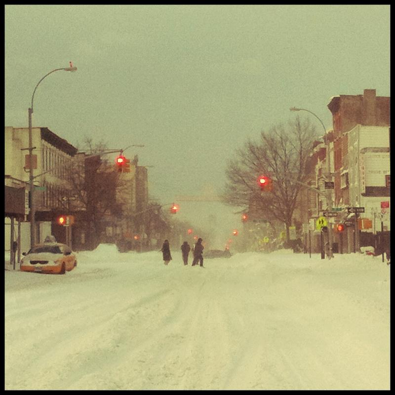 This is what it looks like in Brooklyn today.