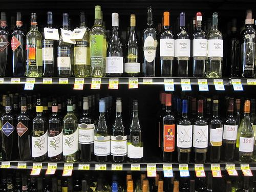 Liquor stores are toasting the governor's decision to leave a wine-in-grocery stores provision out of the budget.