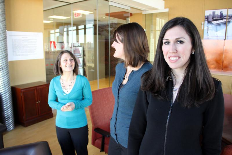 Kristy Guerra, Paula Zimmer and Shannon Lappin are starting a new group for young public relations professionals in Rochester.