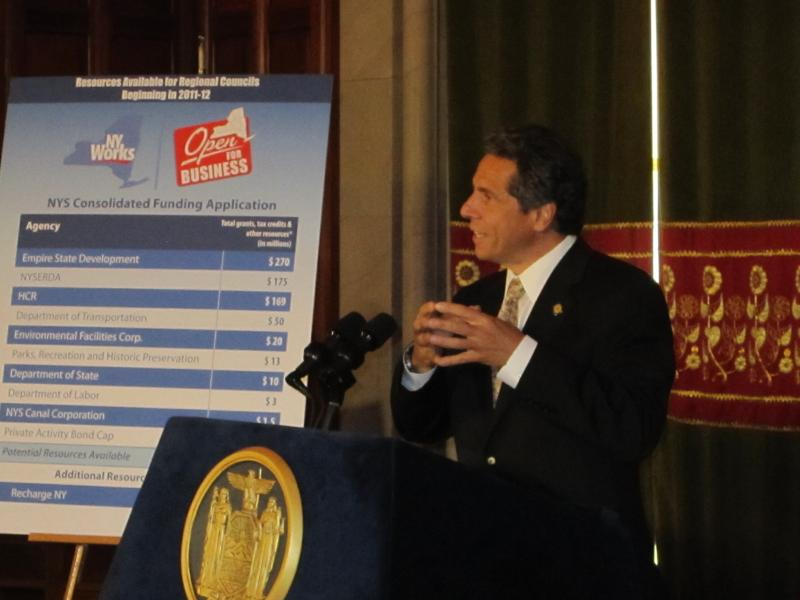 Governor Cuomo says he wants to streamline the bureaucracy that doles out job creation incentives.