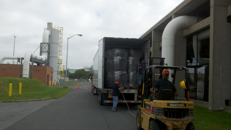 Three hundred rain barrels were delivered for Save the Rain in late August, to be stored until they're taken home by Syracuse residents.