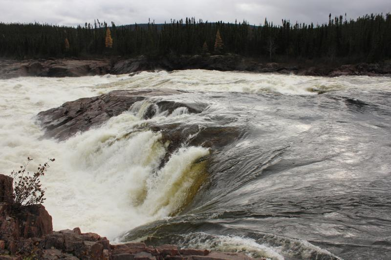Muskrat Falls, the smaller half of the project where construction could begin in 2012. About 60 percent of the power from the new dams could go to markets in Nova Scotia and the U.S.