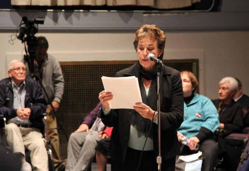 Brighton Town Supervisor Sandra Frankel asked the DEC to hold off on issuing hydrofracking permits.