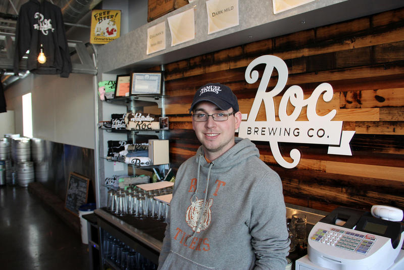 Roc Brewing Co. co-founder Chris Spinelli. After just five months Rochester's newest microbrewery is already winning national attention.