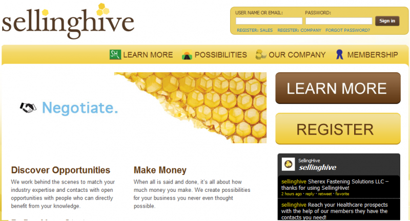 "Selling Hive's website cajoles businesses to network through its service, which tries to build relationships so that ""everyone makes more money,"" says CEO Bob Richardson."