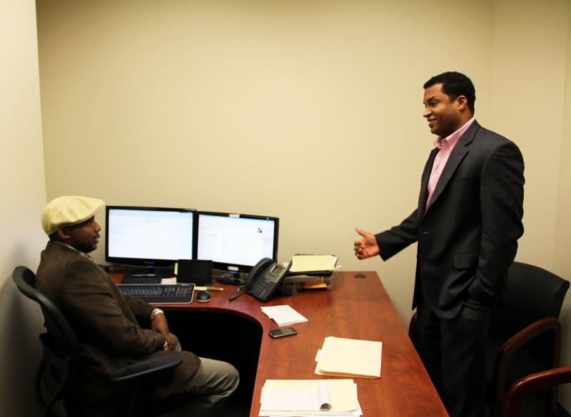 Del Smith (right) with IT/Business Strategist Torry Butler.