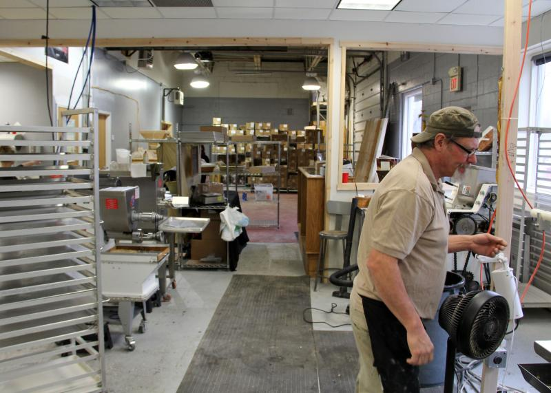 The pasta factory in action. Jon Stadt says the building used to be a factory for Crosman Airguns.
