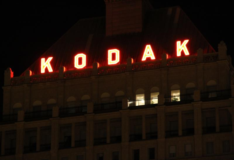 Early this morning, the only light on in Kodak's global headquarters was that of the penthouse office.