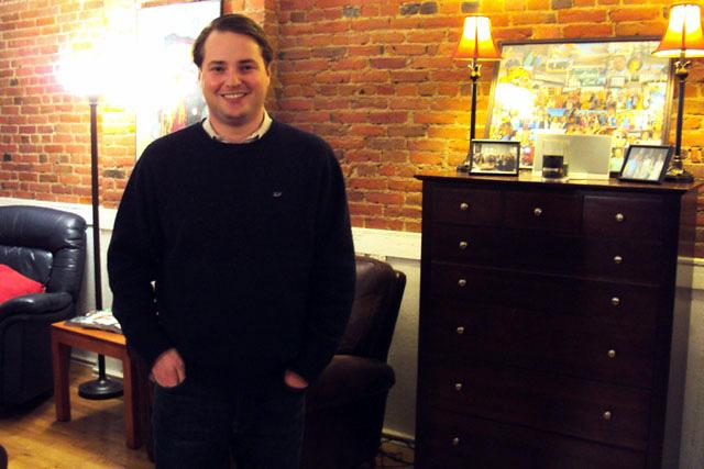 "For 29-year-old Garrett Peterson, the ""nicest apartments in Syracuse"" and proximity to his friends prompted him to live downtown."