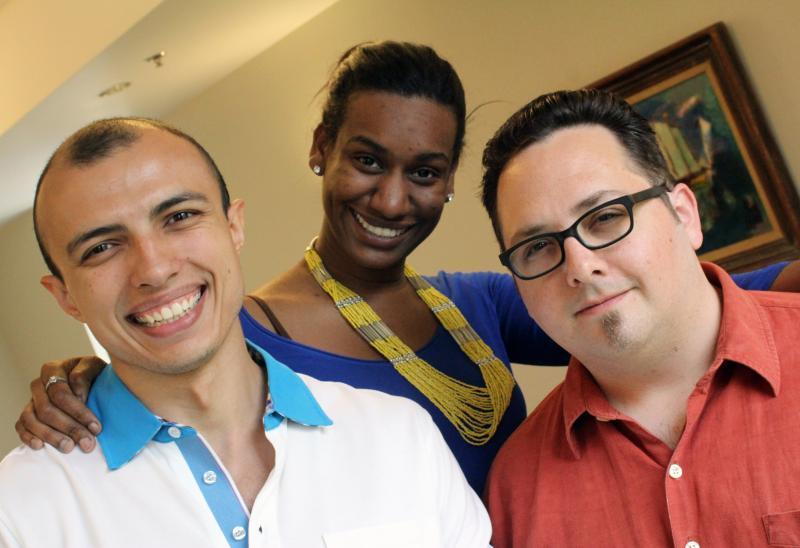 The INDUETIME executive team. CEO Tohir Tillyaev, CMO Sophia Mitchell and CTO Tony Di Pietro.