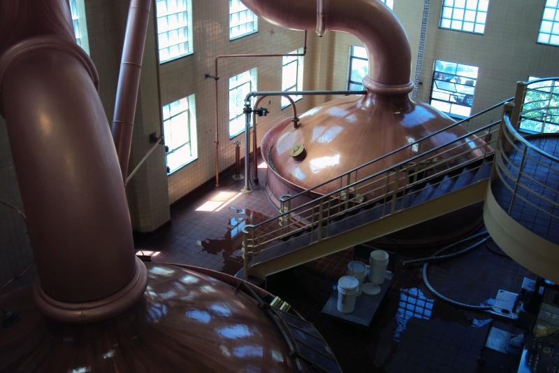 F.X. Matt Brewing's two copper brew kettles were installed shortly after World War II.