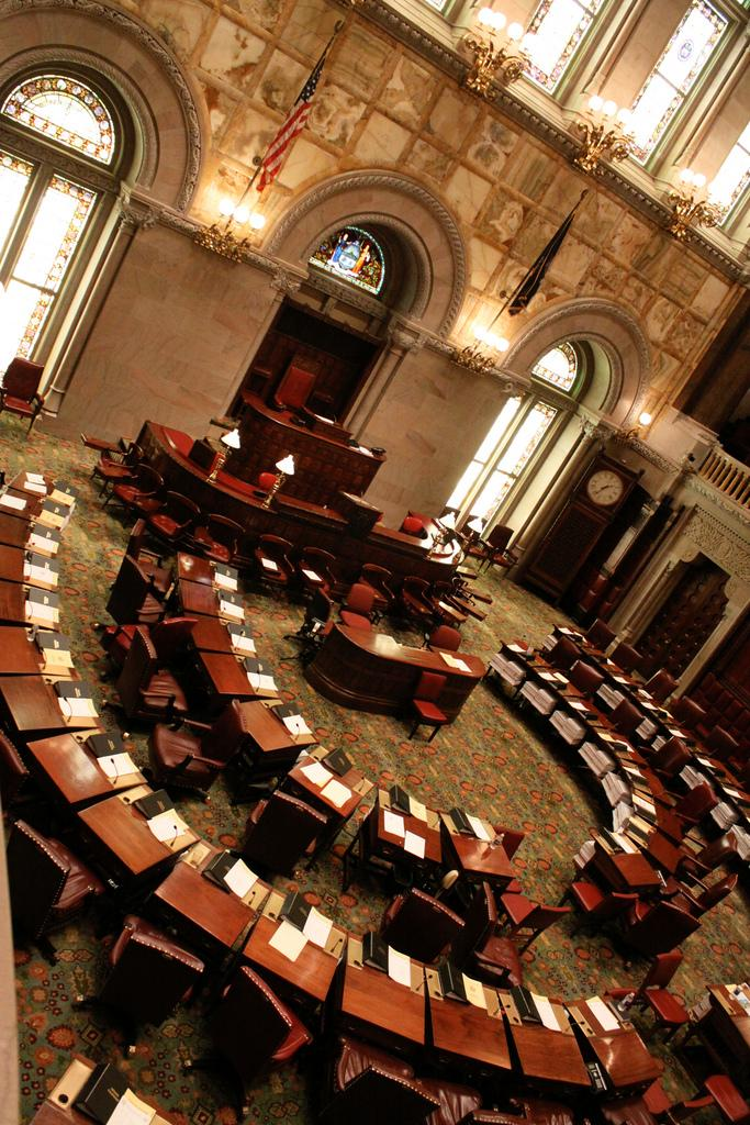 Come 5:01 p.m. Thursday, expect NY's Senate chamber to look something like this.