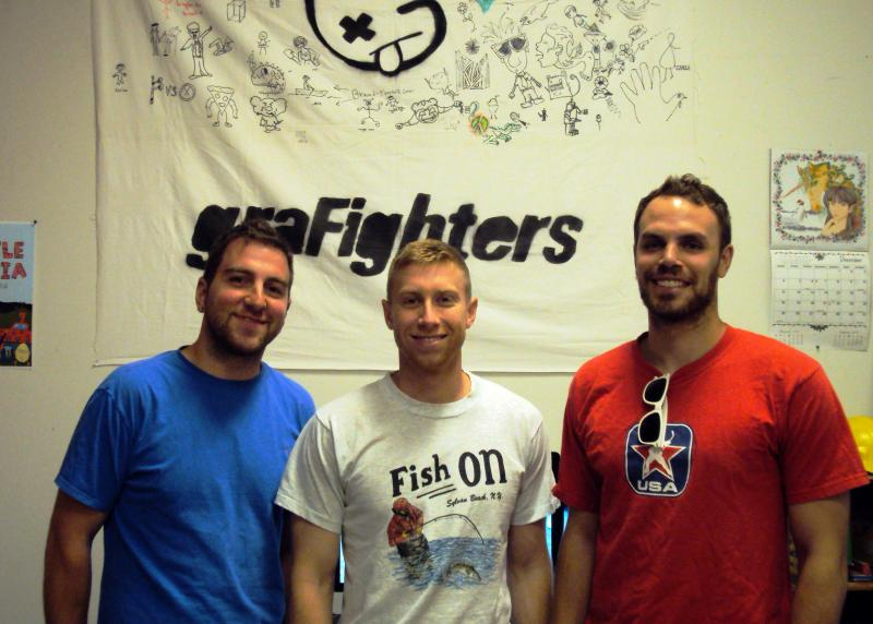 The GraFighters team (from left): Sam Skelton, Eric Cleckner and Dave Chenell.