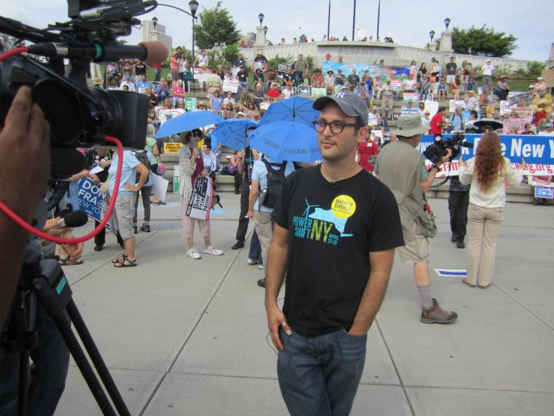 """Gasland"" filmmaker Josh Fox has joined with anti-fracking activists across the country."