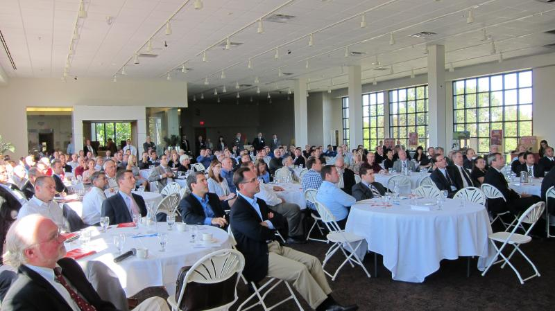 Audience members at the Rochester Regional Photonics Cluster meeting held on Monday 9th September