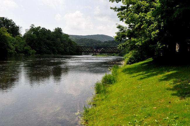 Drilling opponents in Deposit point to assets like the Delaware River, which runs through the center of town, and the area's many trout streams as reasons to  keep drilling out.