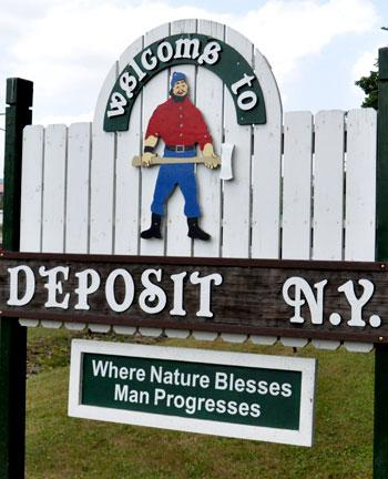 The economy in Deposit has relied on natural resources since its founding more than 200 years ago.