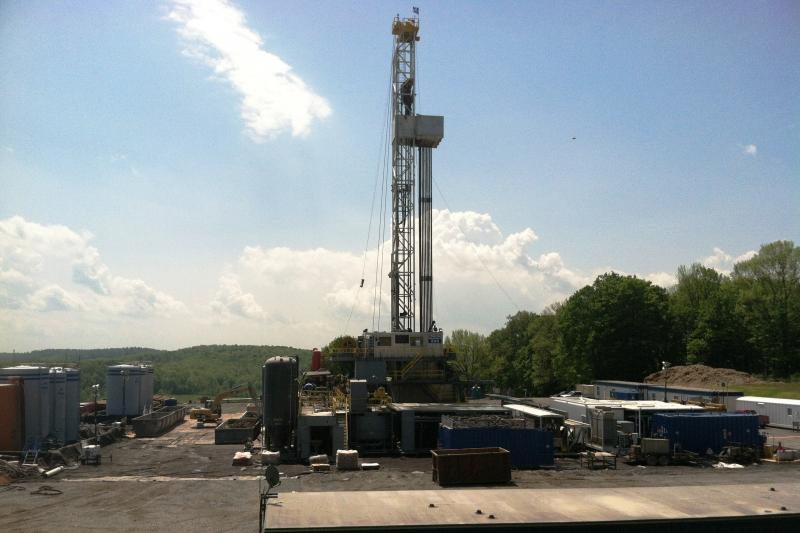 A hydrofracking drill site in Pennsylvania.