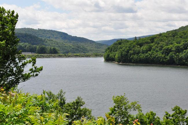 A few miles outside of Deposit is one of New York City's reservoirs. The city's upstate watersheds are protected from drilling.