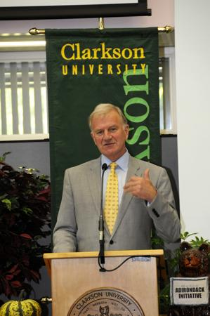 Tony Collins, president of Clarkson University