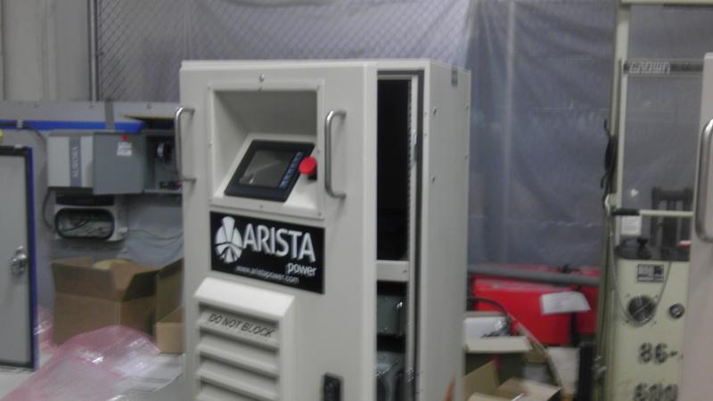 One of Arista's power on demand units. This system regulates and analyzes energy.