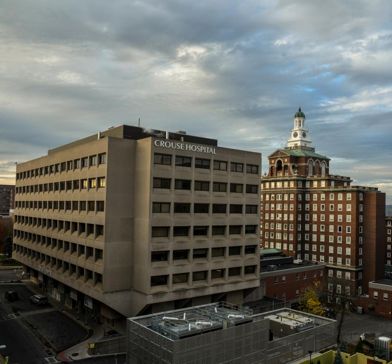 Crouse Hospital will pay Syracuse $50,000 annually for the next four years in a service agreement.