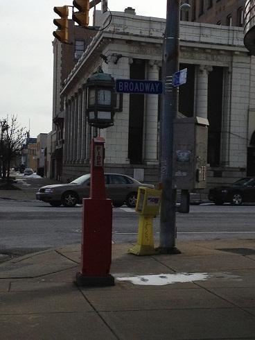 Corner of Broadway and Fillmore Avenue