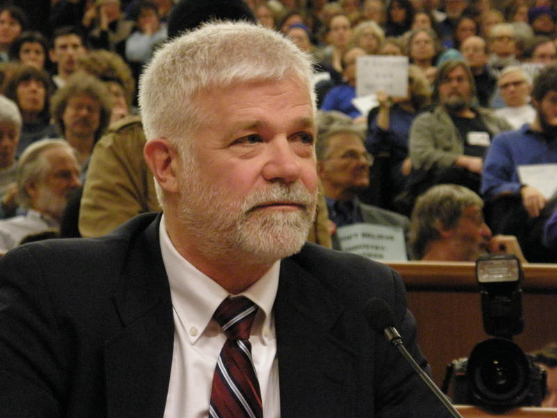 At Monday's budget hearing, DEC Commissioner Joe Martens was grilled by legislators as a crowd of fracking opponents cheered and hissed.
