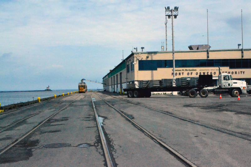 Freight moved by rail and truck has risen to make up half of the Port of Oswego's business.