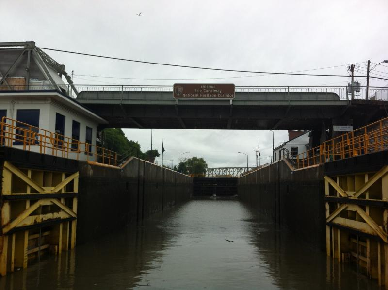 Entering the Champlain Canal in Whitehall.