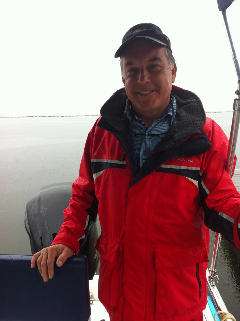 Ed Champagne, the sewage boat's captain.