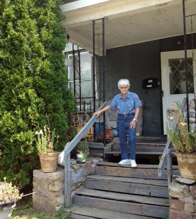 Resident Shirley Nichols says Eighteenmile Creek has a rotten egg smell.
