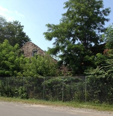 The Flintkote plant along the creek was used to manufacture paper and asphalt products before it closed in 1971.