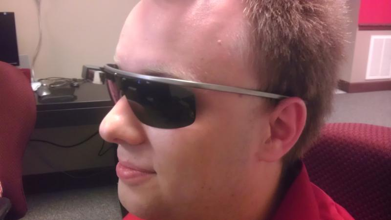 Google has developed shades for the unit to make outdoor use easier. They're working on a prescription lens option.