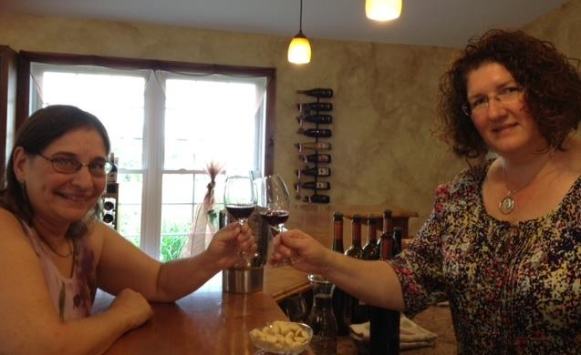 Margo Sue Bittner of the Winery at Marjim Manor & Wendy Oakes-Wilson of Leonard Oakes Estate Winery.