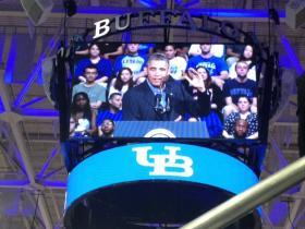 President Obama at UBuffalo Thursday morning
