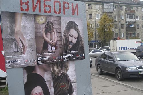 Human trafficking posters.