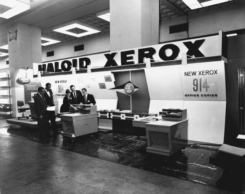 Xerox model 914 at a trade show